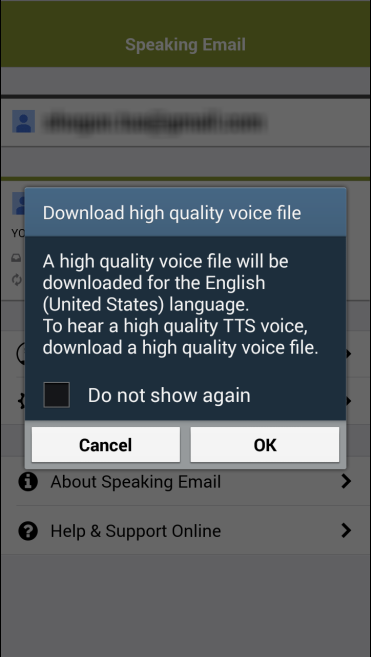 High quality voice