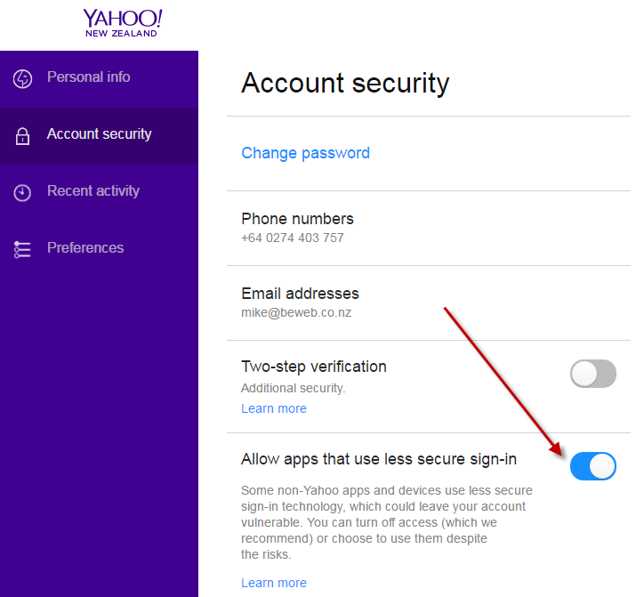 how to find out your old password on yahoo