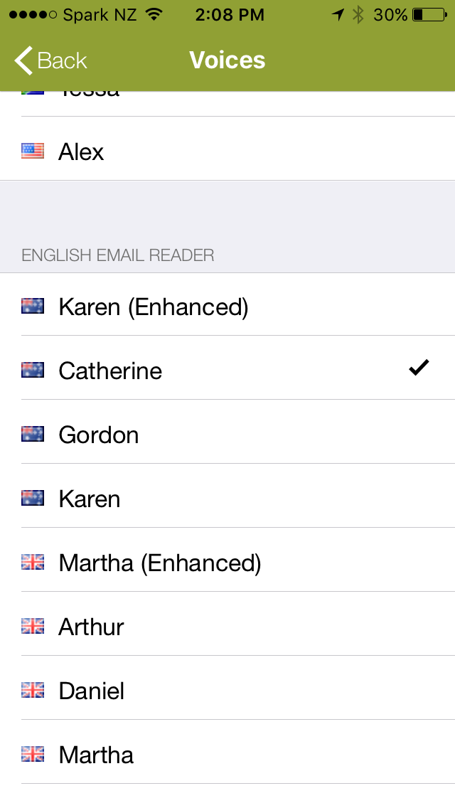 Email TTS (Text-To-Speech) with Speaking Email app for