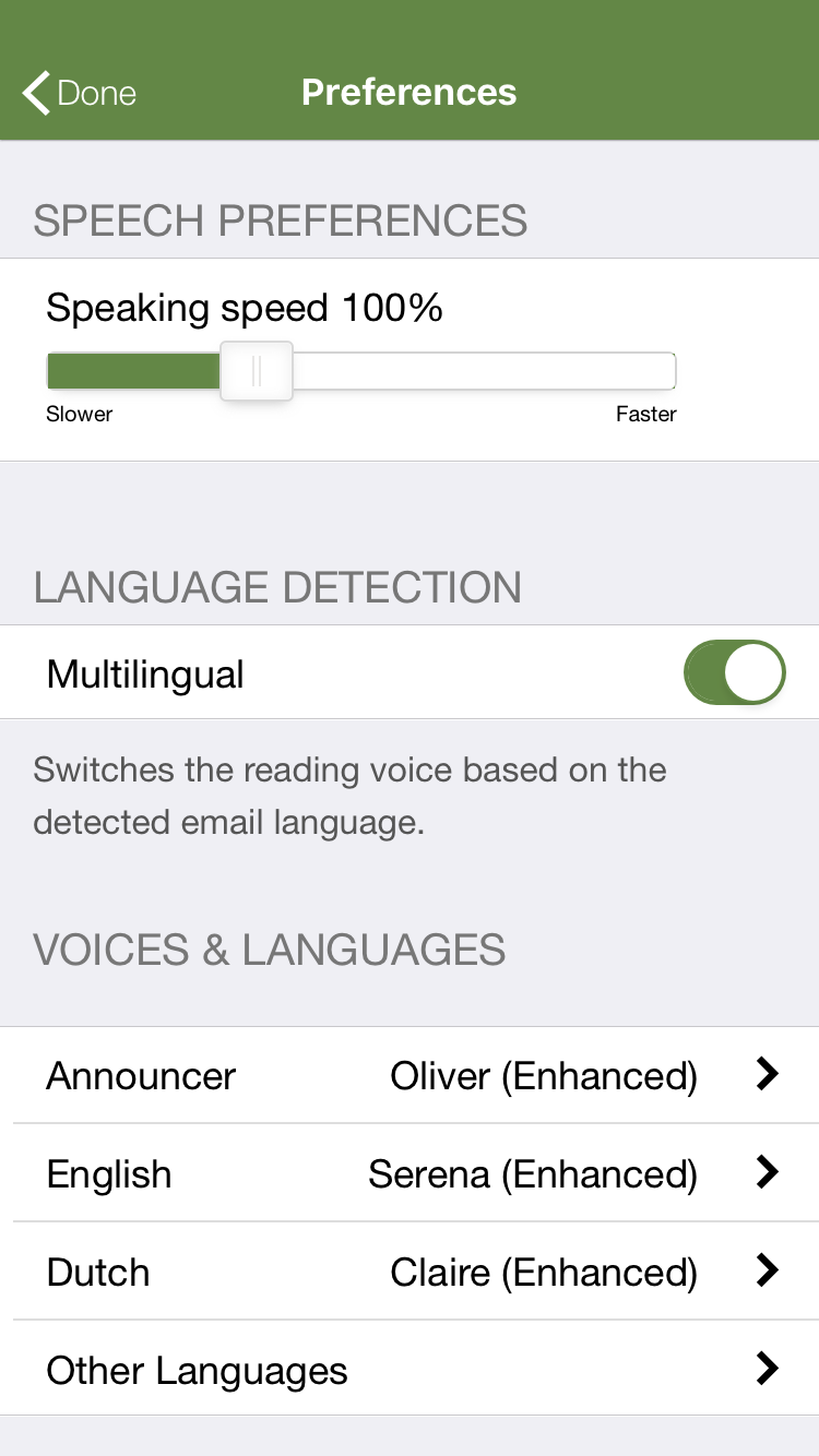 Latest Speaking Email enhancements - Speaking Email
